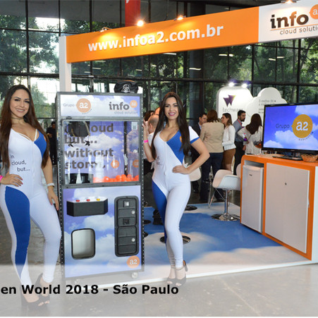 Grupo A2 no primeiro dia do Oracle Open World 2018 em São Paulo: Sucesso total!