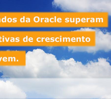 Receita Oracle com serviço e suporte a licenças subiu para 6,77 bilhões de dólares.