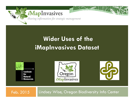 Wider Uses of the iMapInvasives Dataset