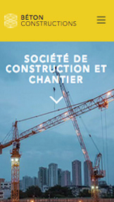 Immobilier website templates – Société de Construction