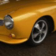 VW Karmann Ghia after polishing and protecting