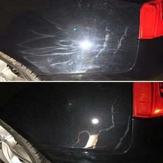before and after paint correction photo.