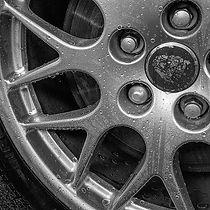 Water Droplets on Jaguar X Type alloy wheels