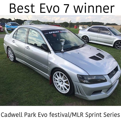Mitsubishi Evo 7 show and shine winner