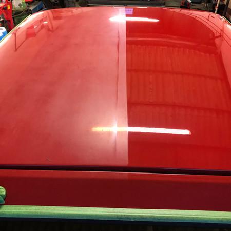 50/50 paint correction on Opel Manta