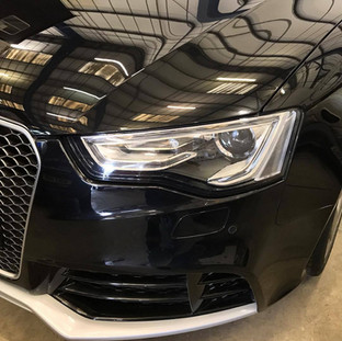 Audi RS5 after paint correction and ceramic coating.