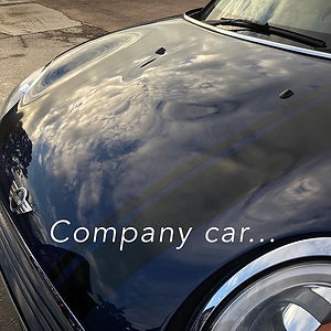 A Mini Cooper company car