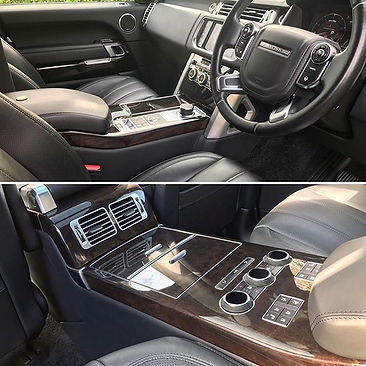 Range Rover Autobiography interior detail.