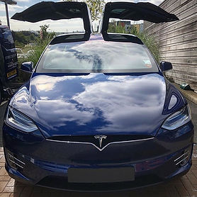 Brand new Tesla model X in for a mainten
