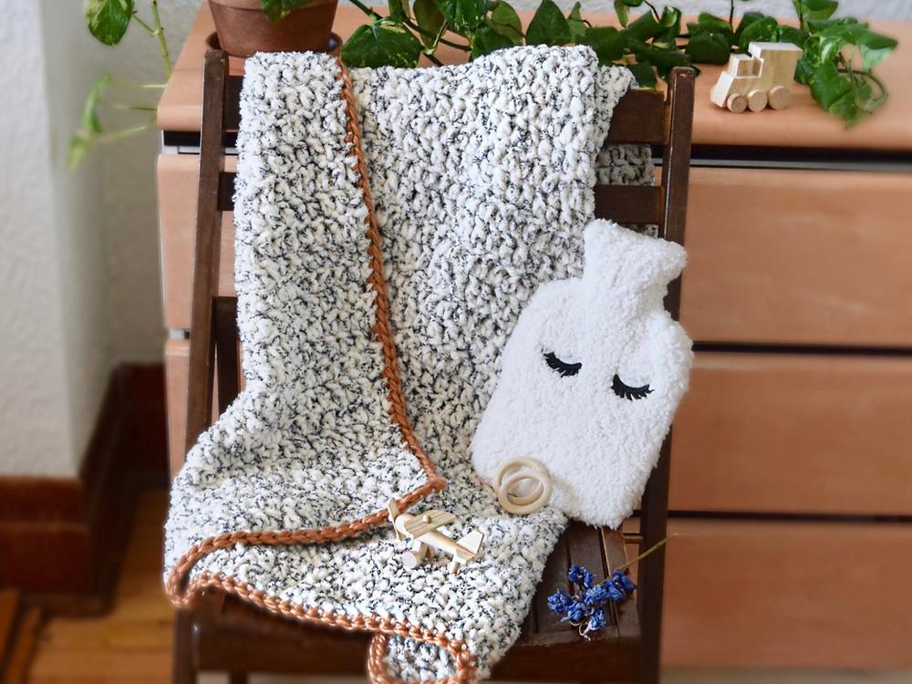 tutoriel couverture bébé au crochet
