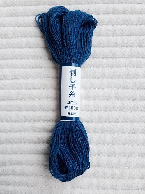Sashiko-garn; Blå 40 meter