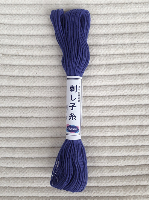 Sashiko-garn; Marinblå 20 meter
