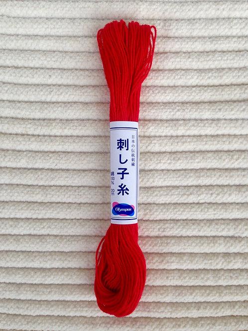 Sashiko-garn; Röd 20 meter
