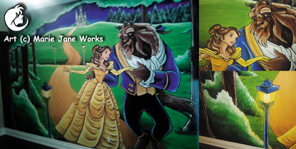 Beauty-and-the-beast-mural