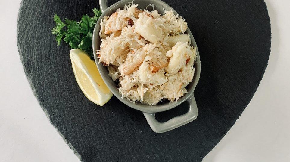 Handpicked Cornish Crab Meat -White & Brown (250g tub)