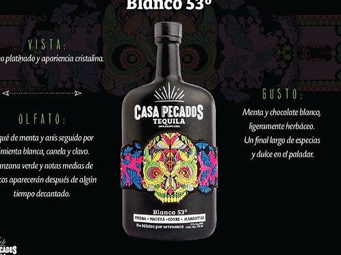 Tequila Casa Pecados Blanco a 53 grados 750ml