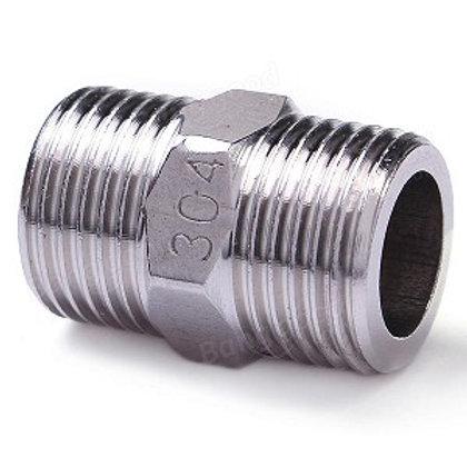 """Stainless Steel Hex Nipple 1/2"""""""