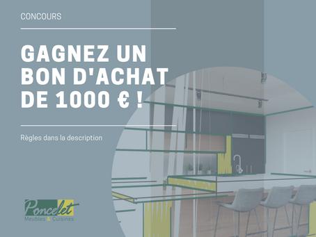 CONCOURS FACEBOOK : Un bon d'achat de 1000 € à gagner !