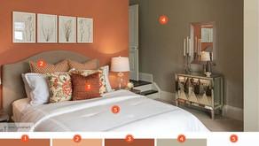 Inspiration chambre : Nuances de couleurs chaudes