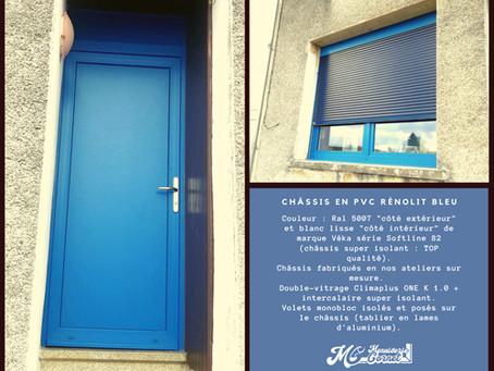 Réalisation : Châssis en PVC Rénolit Bleu