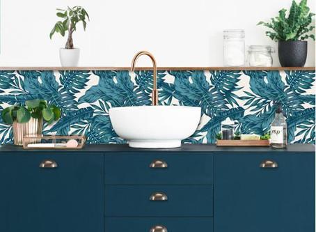 Et si le papier peint s'installait dans votre cuisine ?