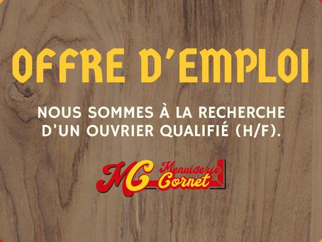 Offre d'emploi : Ouvrier (H/F)