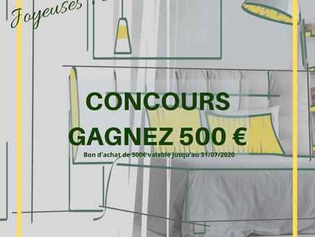 CONCOURS FACEBOOK : Un bon d'achat de 500€ à gagner !