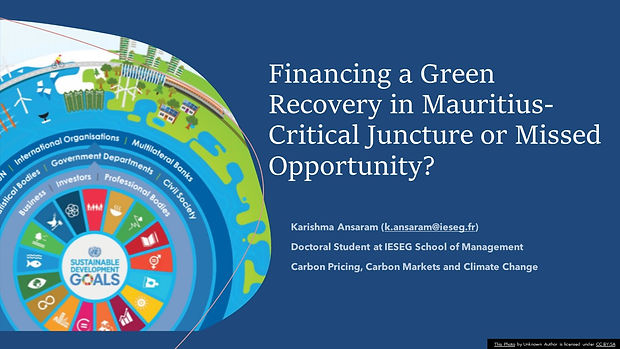 Karishma_Financing a green recovery pres