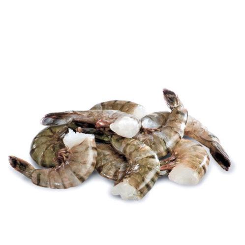 Jumble Size Black Tiger Headless Shrimp  4 LB/Box  13-15 CT/LB