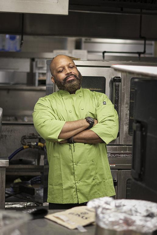 Bruce Jr- Green Chef Jacket.JPG