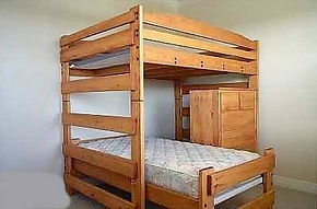 Twin over Full L-Shape Bunk Bed