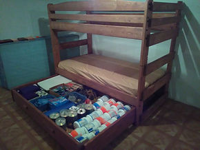 Bunk Bed with open Storage Drawer