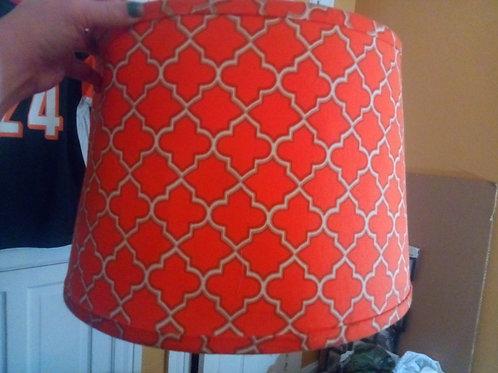 Retro vibrant drum lamp shade