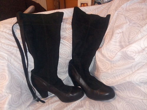 Timberland tall or scrunchie suede and leather boots