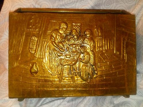 Antique Bible book magazine holder