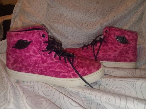 Hot pink tie-dye very rare air Jordans