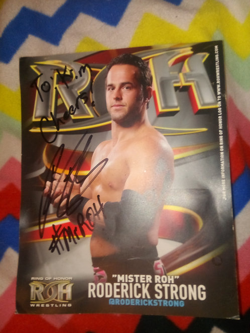 Authentic autographed Roderick strong 8 by 10