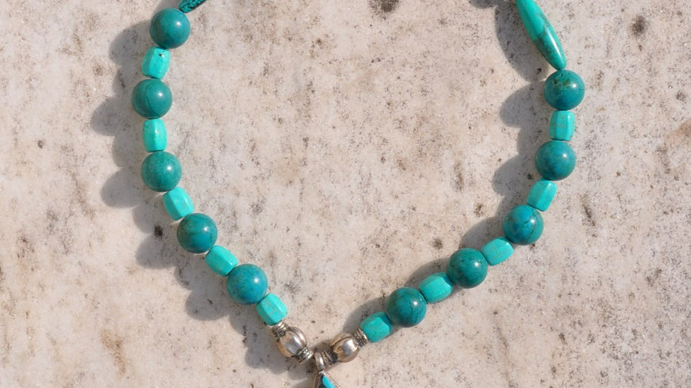 Statement Turquoise Stone Necklace
