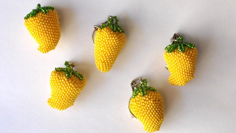 Yellow Pepper Keychain