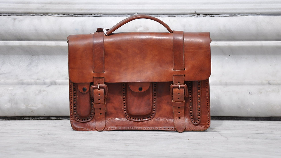 LEATHER STITCHED BRIEFCASE