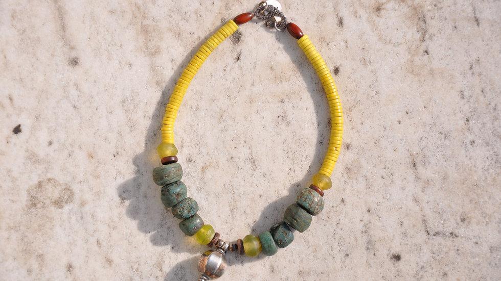 Semi Precious Green Stones Necklace