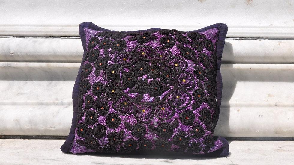 Dark Floral Pillow Case