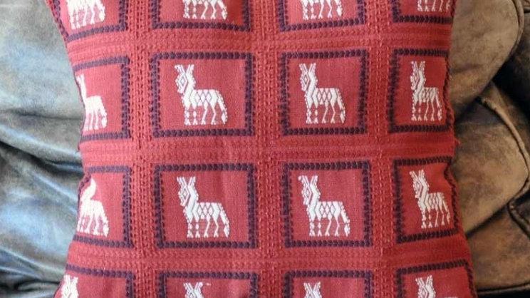 Mayan Fabric Alpaca Pillow Case