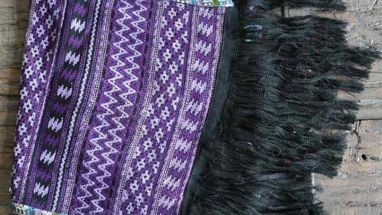 Purple Huipil Table Runner Style 1