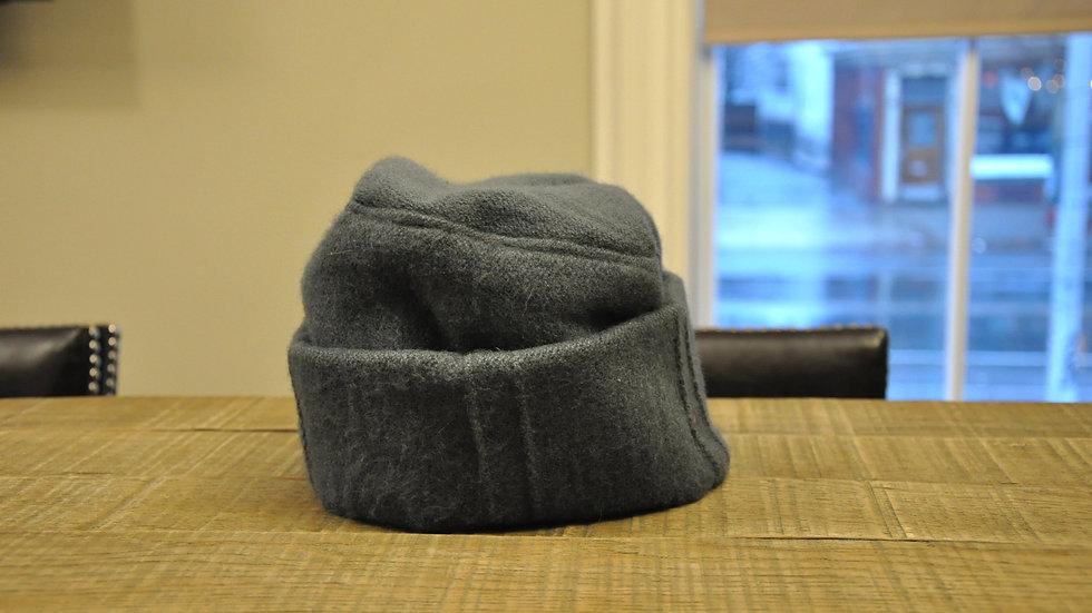 Gray Wool & Cotton Hat