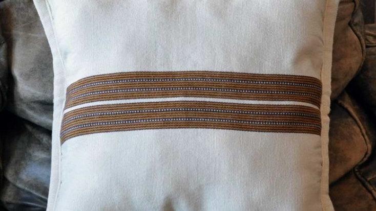 White Mayan Fabric Pillow Case