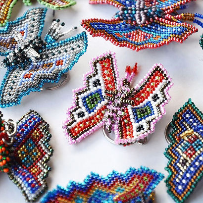 beaded keychain, butterfly keychain, handmade accessory