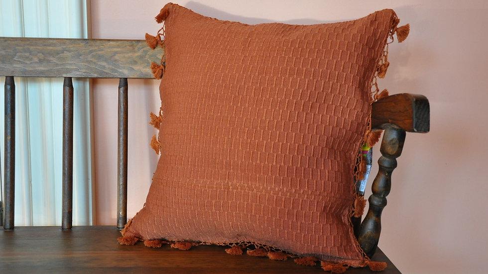 Orange Mayan Fabric Pillow Case