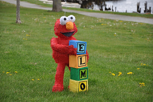Elmo Pinata With Blocks