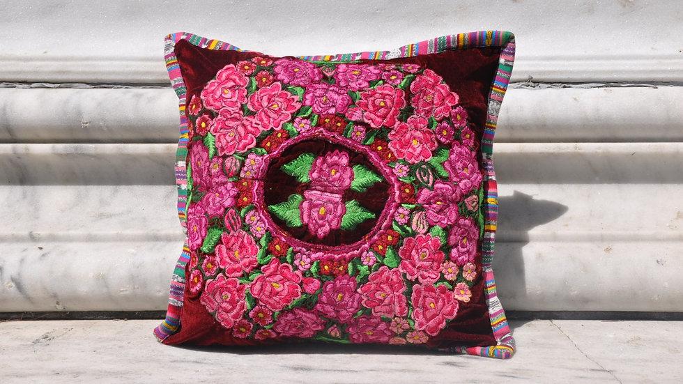 Pink Flower Pillow Case